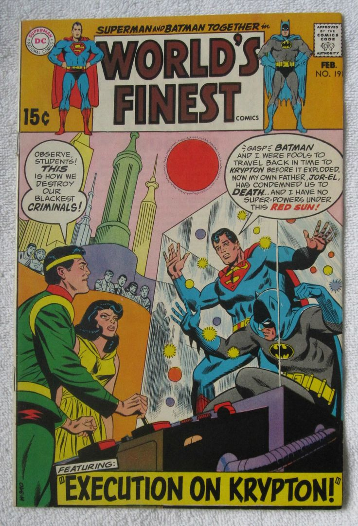 Worlds Finest Comics 191 Feb 1970 DC FN 55