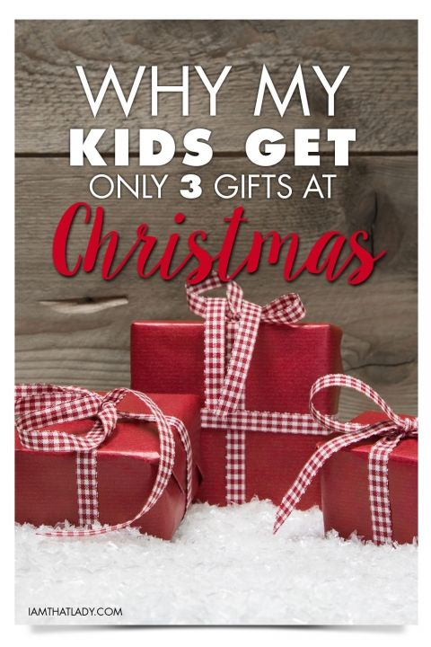 Have you heard of the 3 gift rule for Christmas gifts? We do this with our kids and it works amazing! Check it out!
