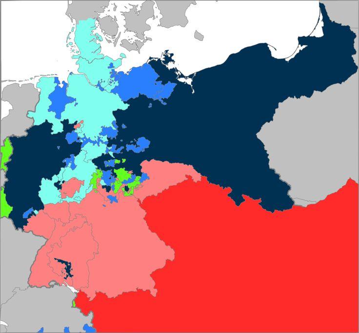 Map AustroPrussianWar Unification of Germany Wikipedia