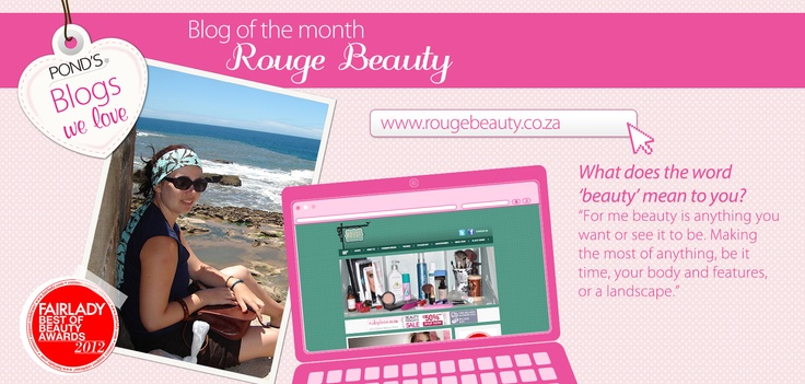 Our #Blog of the month, Rouge Beauty tells us what SHE thinks #beauty is...