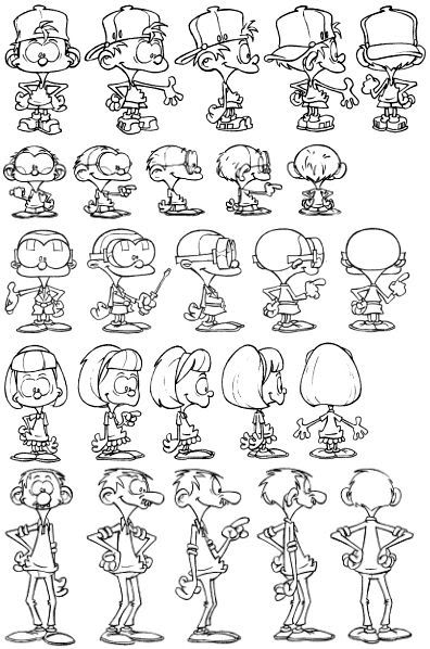 kid paddle model sheet adam - Kid Sheets