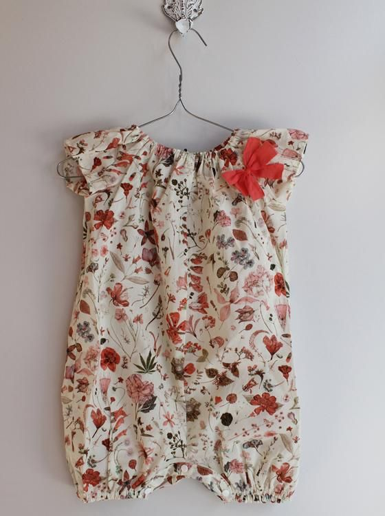 Floral baby romper - ridiculously cute!