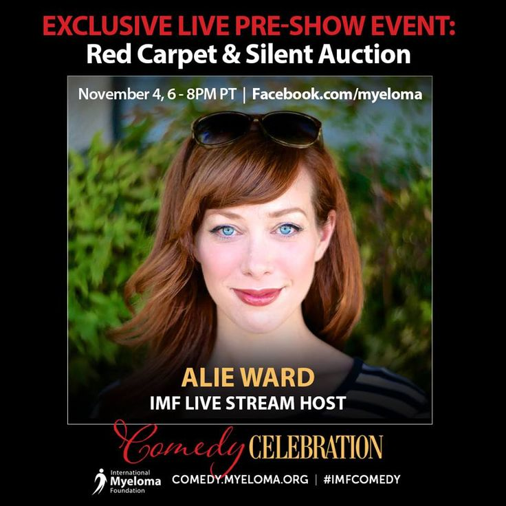 The International Myeloma Foundation is honored to have Alie Ward as one of our IMF Comedy Celebration Facebook Live Stream Hosts! The IMF will be LIVE from the red carpet for arrivals and the on-site silent auction, exclusively from 6–8 p.m. PT.  Alie is a Daytime Emmys / Television Academy Award-winning science correspondent for CBS's The Henry Ford's Innovation Nation with Mo Rocca, and also appears on the Science Channel and Cooking Channel.  #ologies