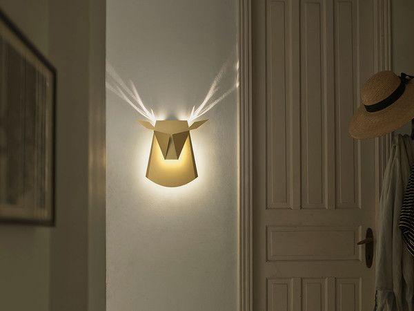 При включении у этой лампы появляются оленьи рога дизайн, освещение, олень, светильник