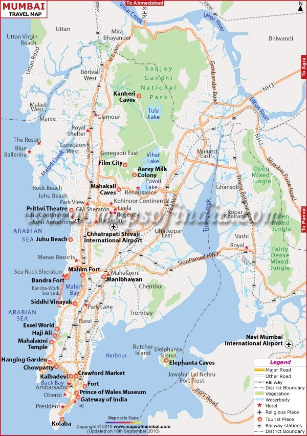 Mumbai Travel Map