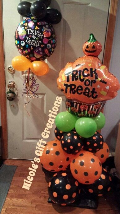 1000 images about balloons halloween on pinterest for Balloon decoration for halloween