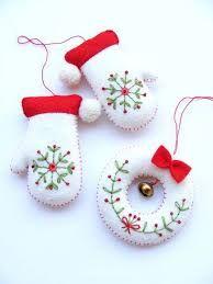 Resultado de imagen para bastones navideños de fieltro