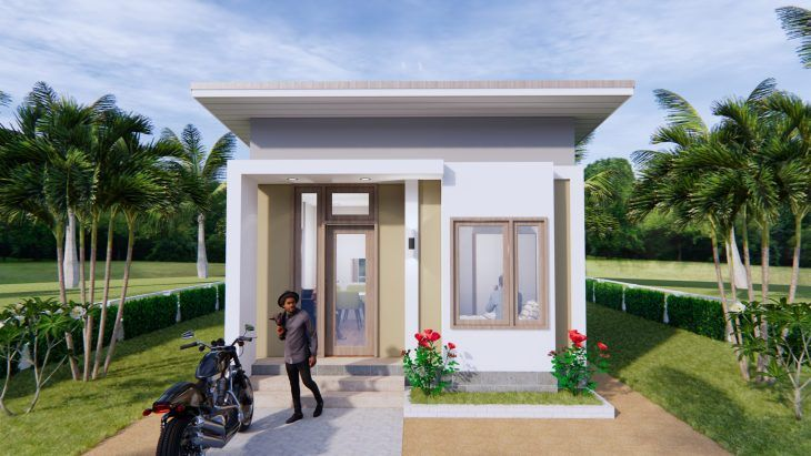 Design My House 5x7 Meters 16x23 Feet Pro Home Decors Small House Plans My Home Design Small House