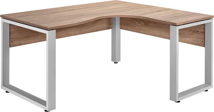 Eck-Schreibtisch, Maja Möbel, »Rantum« für 369,99€. Maße (B/T/H): 160/140/75 cm, Made in Germany, Winkelkombination mit Metallgestell bei OTTO
