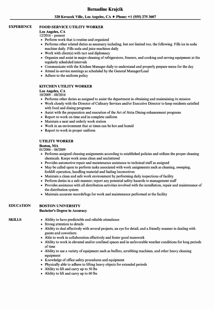 20 Food Service Worker Job Description Resume Resume