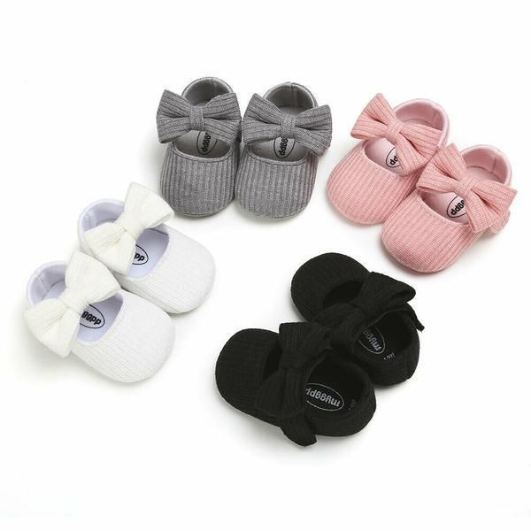 Pudcoco Baby Girl Princess Shoes Newborn Girls Bowknot Soft Bottom Casual Prewalkers For Baby Girl Crib Shoes In 2020 Crib Shoes Girl Baby Girl Crib Shoes Newborn Girl
