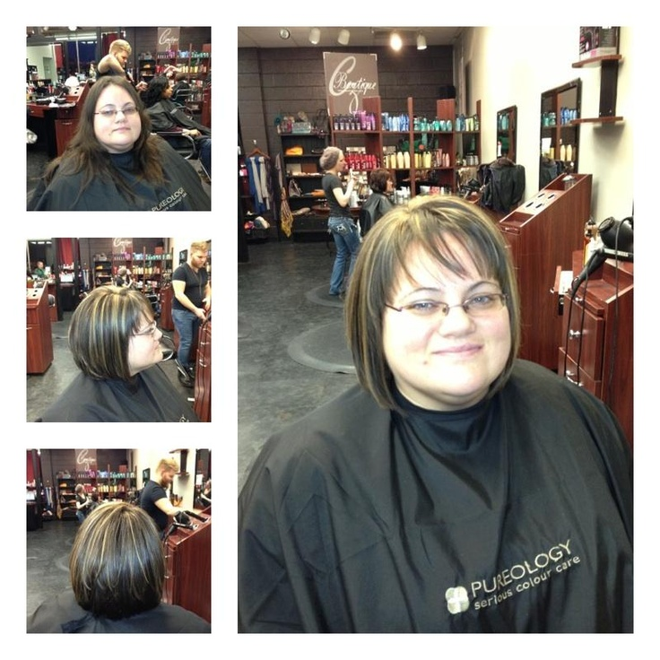 Before and after by Level 1 stylist Melissa Blake. What a wonderful change for this guest!  Great job Melissa! #clipzone #redken #pureology #hair #beforeandafter