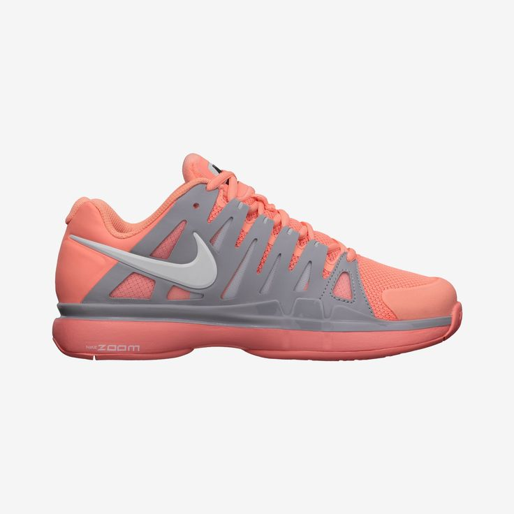 New Nike Vapor 9 Tour Womens Tennis Shoes Atomic Pink/Grey ****