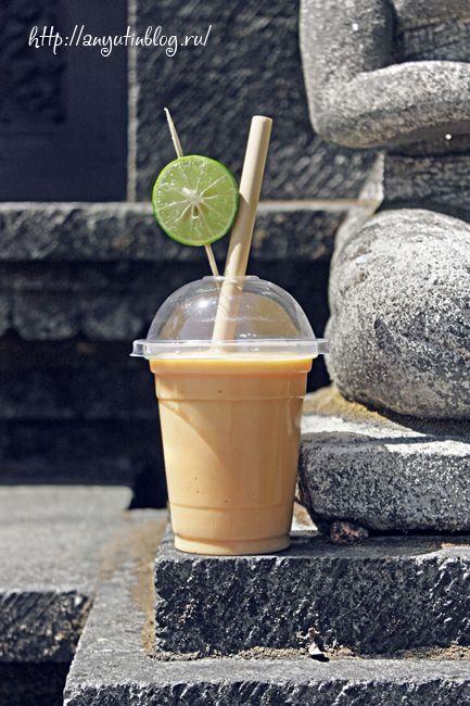 Смузи «Манго-папая-йогурт». #smoothie, #food, #drink