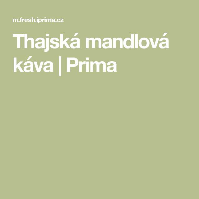 Thajská mandlová káva  | Prima