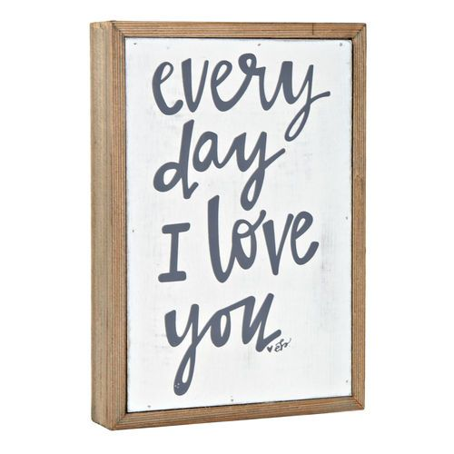 Home Decor  Quote: I Love You Quote Decor Wall Art Everyday I Love You