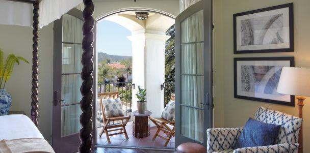 Canary Hotel balcony, Santa Barbara, CA