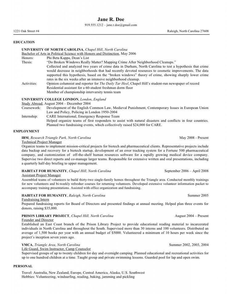 yale law school resume template