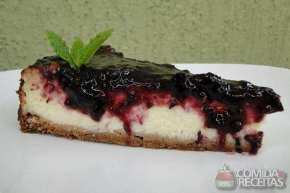Receita de Cheesecake de amora em receitas de tortas doces, veja essa e outras receitas aqui!