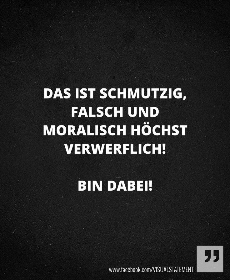 Visual Statements #moral #schmutzig