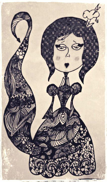 zentangle, dotwork, linework, sketch, my work