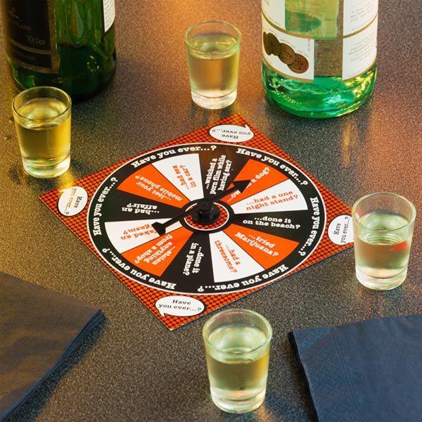 3,00€ · Juego de chupitos Have You Ever...? · El juego de chupitos Have You Ever...? es muy divertido, y solo hay que contestar sí o no a las preguntas (en inglés) para saber si hay que beber o no, dependiendo si te quedas de pie, sentado, o todos los jugadores de pie. Incluye 4 chupitos, 1 tablero y 1 ruleta Medidas de los chupitos (diámetro x altura) aprox.: 3,5 x 4,5 cm Medidas del tablero aprox.: 15 x 15 cm · Aficiones y ocio > Juegos > Juegos recreativos > Otros juegos de bar