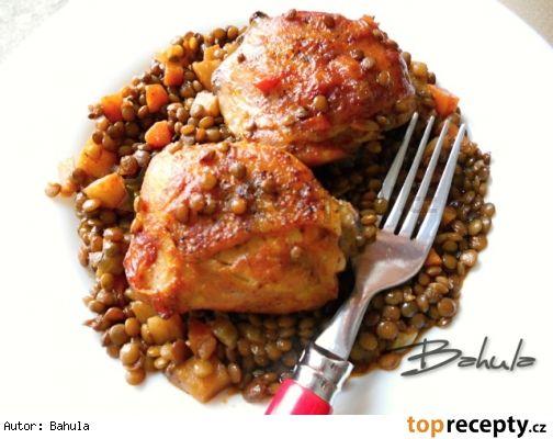 Kuře s čočkou
