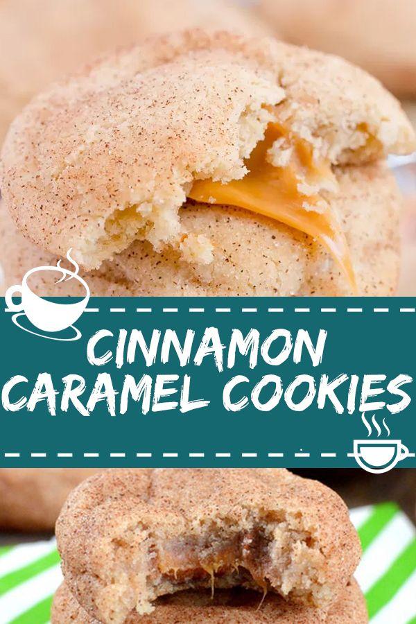 CINNAMON CARAMEL COOKIES #cinnamon #caramel #cookies – Essen & Trinken – Gesund und lecker?! eat and drink – healthy and tasty!