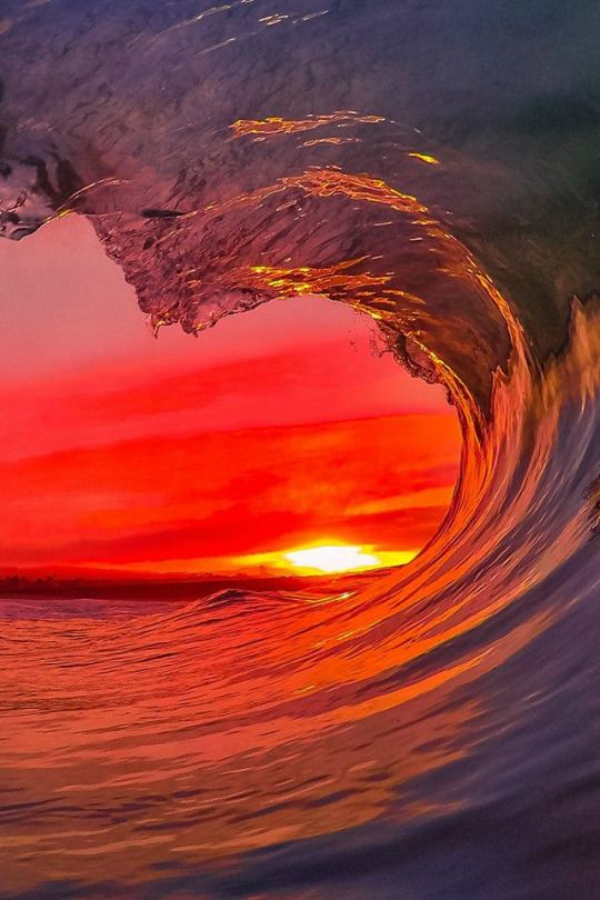 GoPro sunset Photo: Santa Cruz Waves