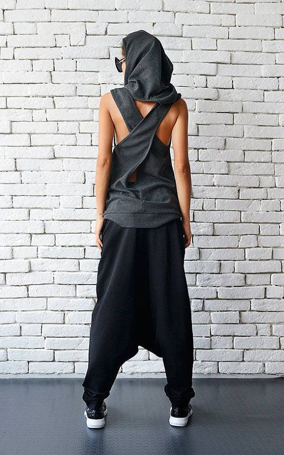 Urban style casual black maxi pants - METP0026 Super cool street wear maxi pants…