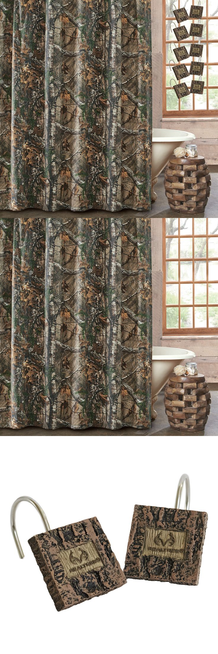 Christmas shower curtains on ebay - Shower Curtains 20441 Realtree Camouflage Xtra Camo Fabric Shower Curtain 72x72 Or W Camo