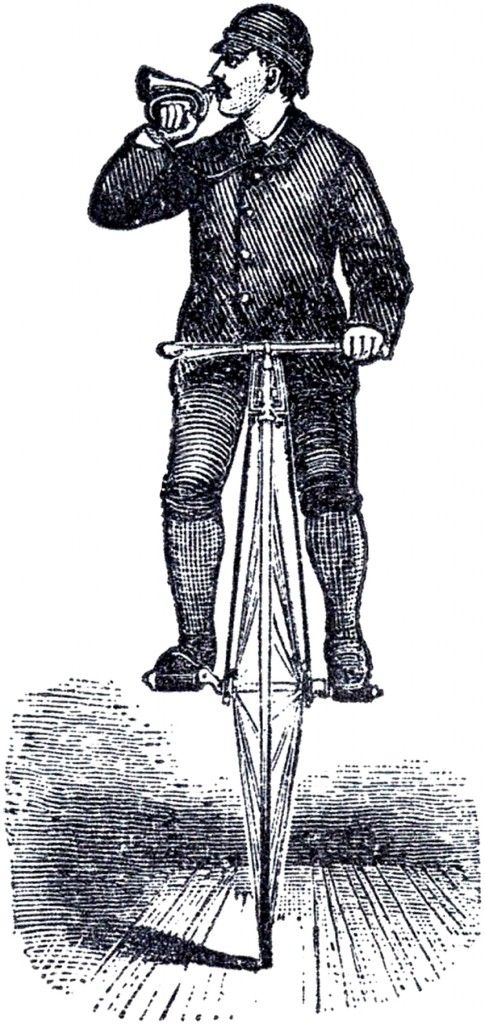 Bicycle Man Steampunk Image ~  This is from an old Bicycle Ad that was  the back of a Circa 1880 Garden Magazine. Description from pinterest.com. I searched for this on bing.com/images