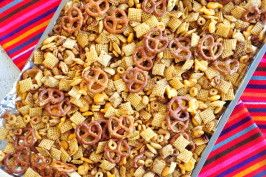 Extra Special Holiday Chex Mix. (Secret Ingredient....bacon grease) YUM!!