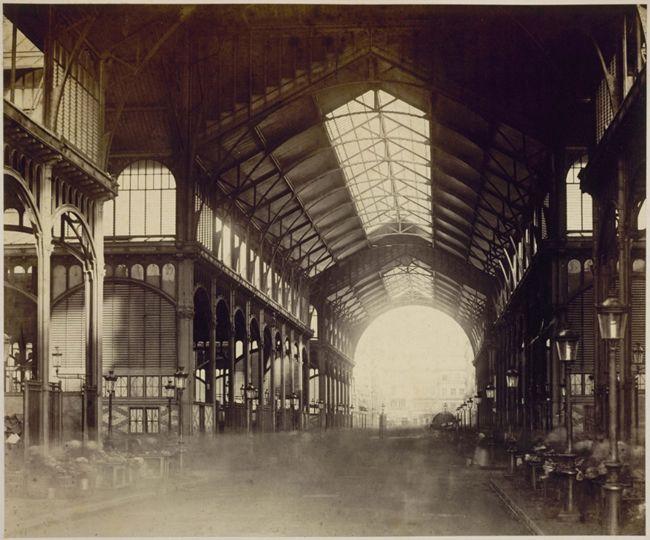 Les Halles de Paris en 1877. Photo Charles Marville.