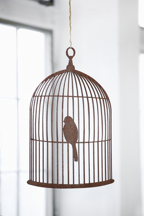 "Birdcage mobile from Ferm Living - could probably recreate something similar on the laser-cutter. It's a cute idea. I always forget about the laser cutter. Wouldn't be as big as their 50"" X 36"" for $89.50, though..."