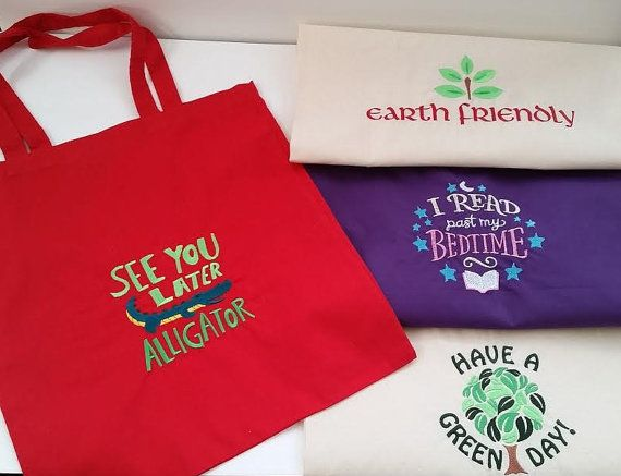 Bags Embroidered by GmasOrganicOriginals on Etsy