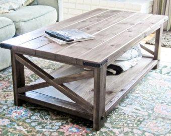 Rustic X Coffee Table di DanowitDesigns su Etsy