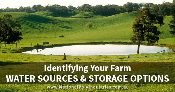 Identifying Your Farm Water Sources and Storage Options