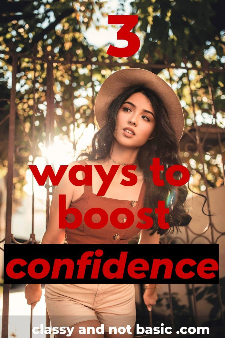 You don't feel confident? Your self-esteem is low?…