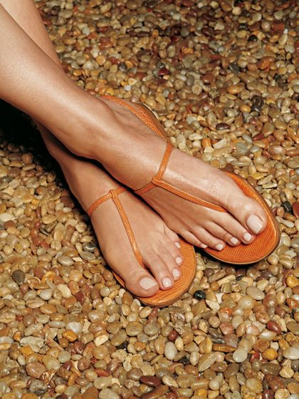 27 ways to look better naked: Get a nude pedicure