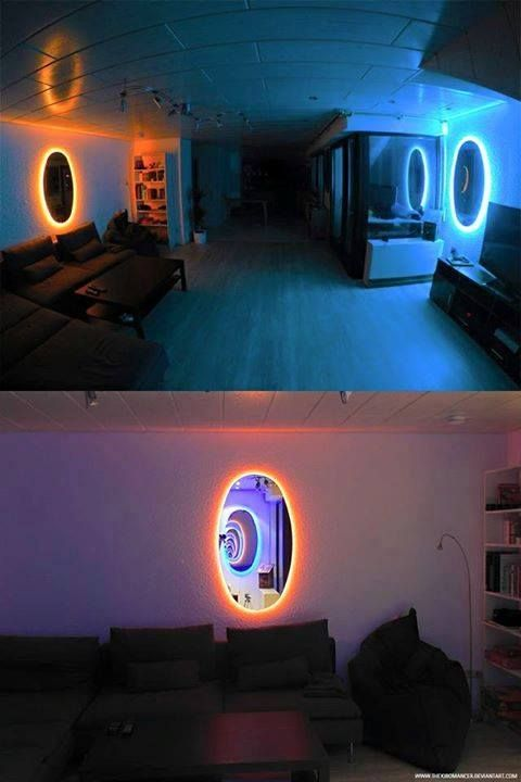 Portal Room Room Decor Game Room Design Portal Mirror