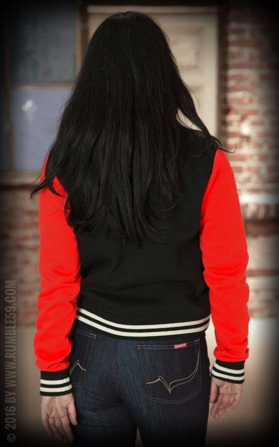 Jordan college jacke schwarz rot
