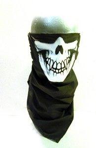 Háromszögű koponya kendő - skull kerchief