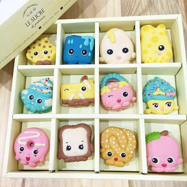 Due to high demand on shopkins character.. We now have shopkins set, please whatsapp +6289630728728 to order #lesucredupatisserie #instacute #instafood #instagood #love #macaron #macarons #macaroon #macaroons