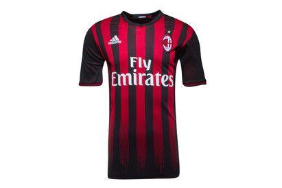 Adidas AC Milan 16/17 Home S/S Replica Football Shirt Prove your loyalty to I Rossonneri by wearing the proud Red and Black stripes of the AC Milan 16/17 Home S/S Replica Football Shirt.This official replica football shirt of world famous Italian club, A http://www.MightGet.com/february-2017-2/adidas-ac-milan-16-17-home-s-s-replica-football-shirt.asp
