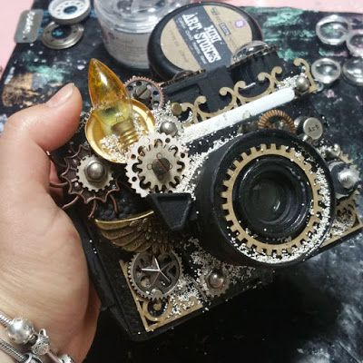 Finnabair: All About Rust Paste - Instant Vintage: Altered Camera Tutorial