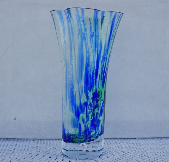 Renate Stock Vase Sea GLASBRUK KOSTA SWEDEN by ScandicDiscovery