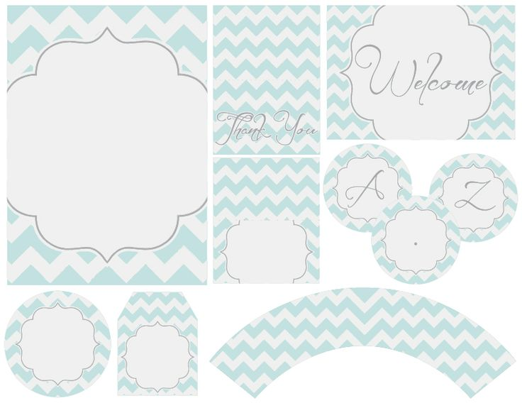 Free Baby Shower Tags Part - 49: This Would Be SO Cute For A Baby Boy Shower! FREE Chevron Party Printables  From Thdezign Party!