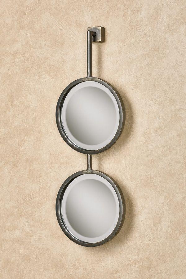 Hailey Metal Double Round Wall Mirror Mirror Wall Round Wall Mirror Mirror