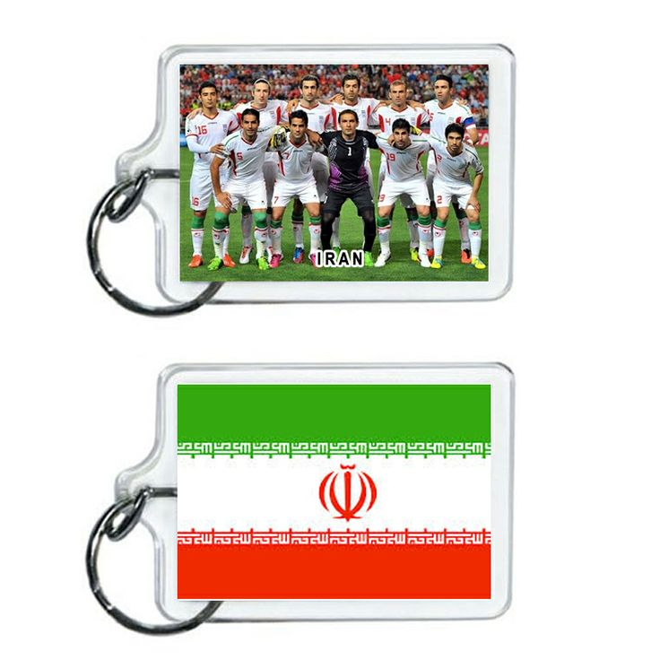 Iran Soccer Flag 2014 Team Player Acrylic Keychain 2 x 1 | www.balligifts.com